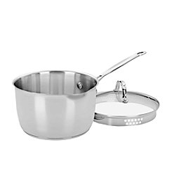 Cuisinart® Chef's Classic Stainless 3-Qt. Covered Pour Saucepan
