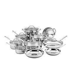 Cuisinart® Chef's Classic Stainless 17-Pc. Cookware Set
