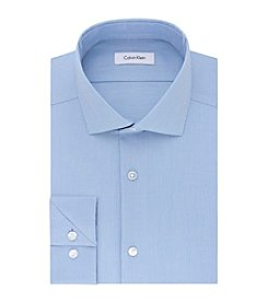 Calvin Klein Men's Steel Non Iron Stretch Slim Fit Solid Dress Shirt