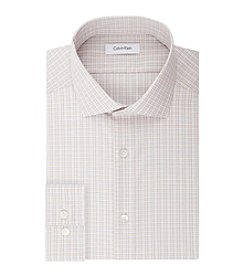 Calvin Klein Men's Steel Non Iron Stretch Slim Fit Check Dress Shirt