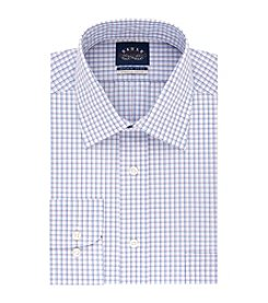 Eagle® Men's Non Iron Stretch Regular Fit Grid Dress Shirt