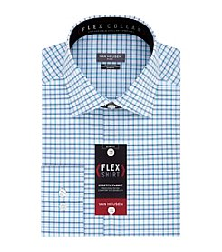 Van Heusen Men's Flex Collar Stretch Slim Fit Spread Collar Check Dress Shirt