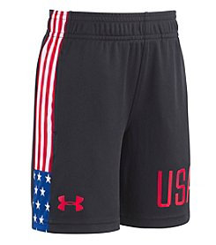 Under Armour® Boys' 2T-7 USA Flag Shorts
