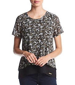 MICHAEL Michael Kors® Back Split Printed Blouse