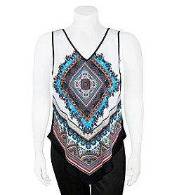 A. Byer Plus Size Overlay Tank Top