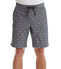 Retrofit® Chambray Shark Print Woven Shorts