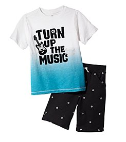 Kids Headquarters® Boys' 2T-7 2 Piece Turn Up The Music Set