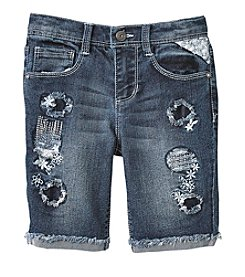 Squeeze® Girls' 4-6X Rip And Repair Shorts