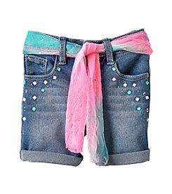 Squeeze® Girls' 2T-6X Multi Stone Roll Cuff Shorts