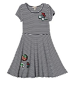 Speechless® Girls' 7-16 Striped Patch Dress