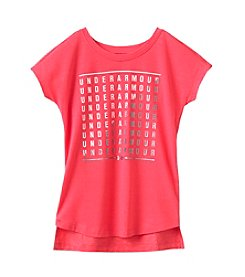 Under Armour® Girls' 4-6X Short Sleeve Split Fashion Tee