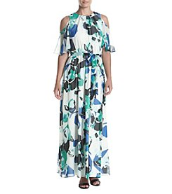 Calvin Klein Cold Shoulder Maxi Dress