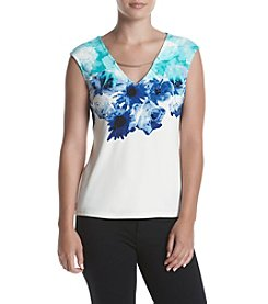 Calvin Klein Curved Hardware Print Top