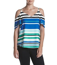 Calvin Klein Cold Shoulder Flutter Sleeve Top