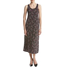 Joan Vass® Paisley Knit Maxi Dress