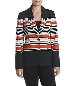 Calvin Klein® Striped Button Jacket