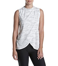 Warrior by Danica Patrick™ Printed Drape Front Tank