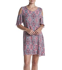 Relativity® Cold Shoulder Swing Dress