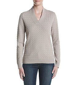 Studio Works® Textured V-neck Sweater