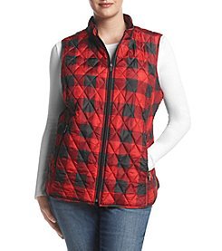 Relativity® Plus Size Print Quilted Vest