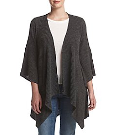 Relativity® Plus Size Open Front Draped Cardigan