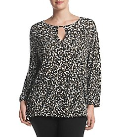 MICHAEL Michael Kors® Plus Size Carra Camo Peasant Top