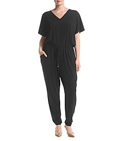 MICHAEL Michael Kors® Plus Size V-Neck Flutter Sleeve Jumpsuit