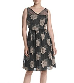 Adrianna Papell® Rose Burnout Pattern Dress
