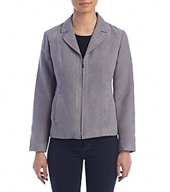 Studio Works® Faux Suede Notch Collar Jacket