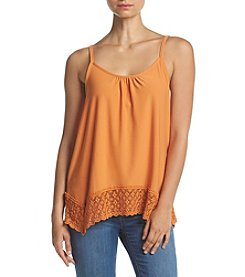 Kensie® Knit Crochet Trim Cami