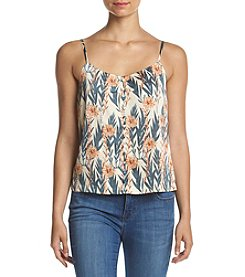Kensie® Leafy Vines Button Front Cami