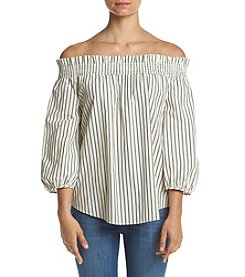 Kensie® Striped Off Shoulder Top