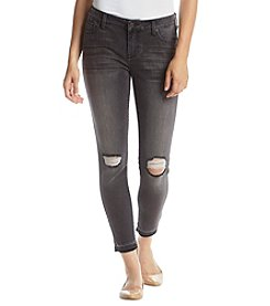 Celebrity Pink Destructed Release Hem Ankle Skinny Jeans