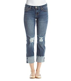 Celebrity Pink Brody Wide Cuff Destructed Ankle Jeans