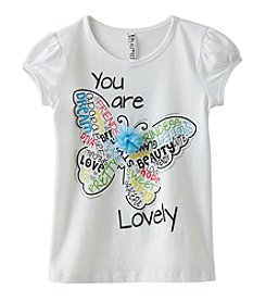 Beautees Girls 4-6X Lovely Butterfly Tee