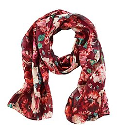 Collection 18 Red Oil Paint Floral Oblong