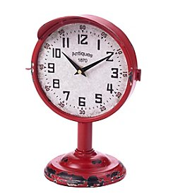 Ruff Hewn Red Metal Clock