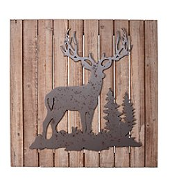 Ruff Hewn Deer Wood Plank Wall Decor
