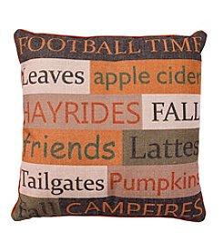 Living Quarters Harvest Fall Phrase Pillow