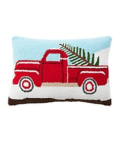 Living Quarters Yuletide Farms Decorative Holiday Truck Pillow