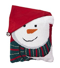 Living Quarters Handhook Snowman Accent Pillow