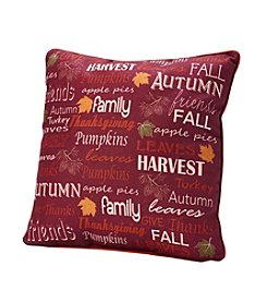 Living Quarters Harvest Thanksgiving Sentiments Decor Pillow