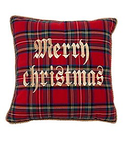 Living Quarters Tartan Merry Christmas Pillow