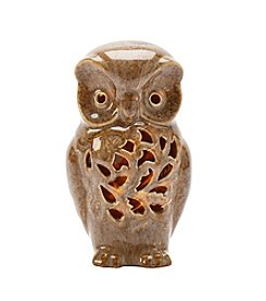Living Quarters Brown LED Owl Figurine