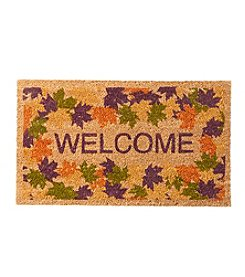 Living Quarters Leaves Welcome Coir Mat