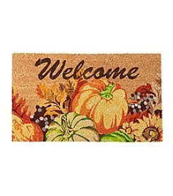 Living Quarters Pumpkin Welcome Coir Mat