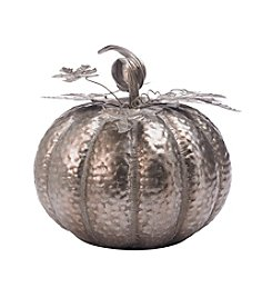 Living Quarters Large Champagne Galvanized Pumpkin