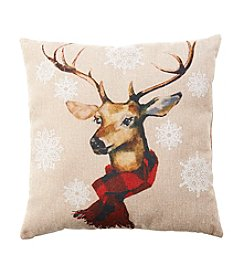 Living Quarters Rustic Lodge Deer Pillow