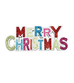 Living Quarters Glitter Merry Christmas Wall Sign