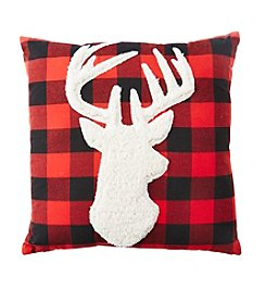 Living Quarters Rustic Lodge Reindeer Pillow